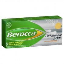 Berocca Performance 50+ Natural Ginseng 30 Effervescent Tablets