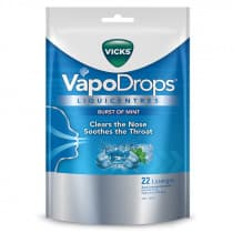 Vicks Vapodrops Liquicentres Burst Of Mint Lozenges 22 Pack