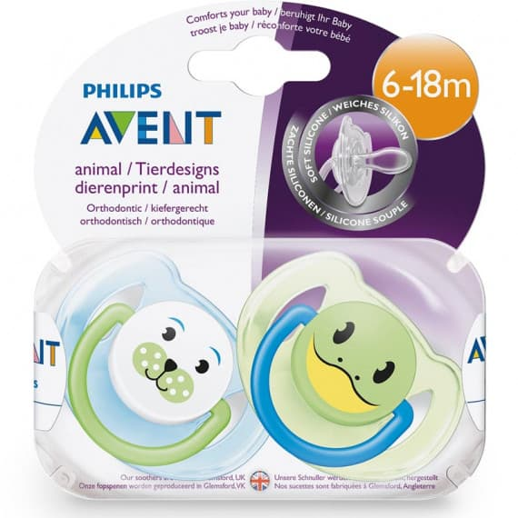 Avent Classic Animal Soother 6-18m+ 2 Pack