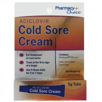 Pharmacy Choice Aciclovir Cold Sore Cream Tube 5g