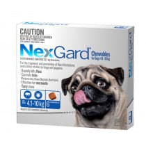 Nexgard Chewables for Small Dogs 4.1 - 10kg Blue 6 Pack