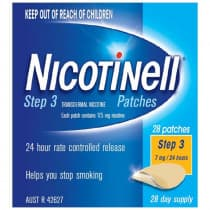 Nicotinell Patches Step 3 7mg 28 Patches