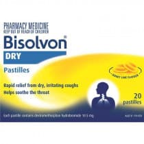 Bisolvon Dry Honey Lime 20 Pastille
