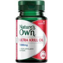Natures Own Ultra Krill Oil 1000mg 30 Capsules