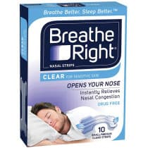Breathe Right Clear Nasal Strips 10 Small \Reg 1 Pack