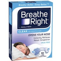 Breathe Right Clear Nasal Strips 10 Large 1 pack