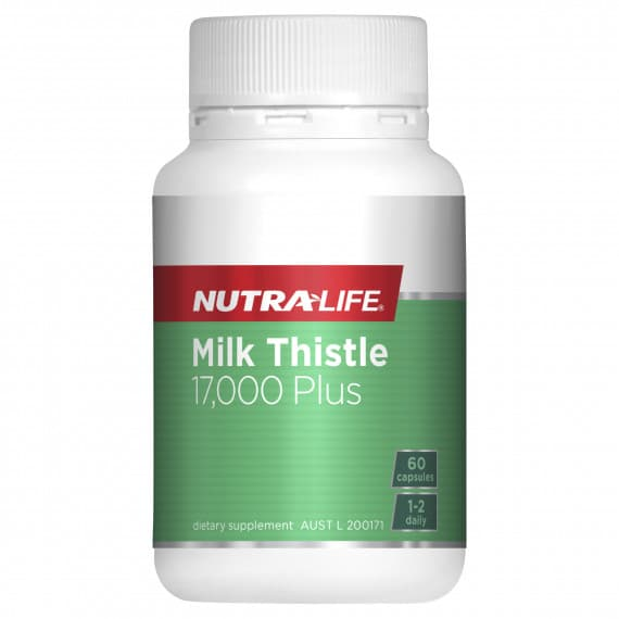 Nutra Life Milk Thistle 17000 Plus 60 Capsules
