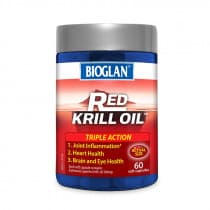 Bioglan Red Krill Oil Triple Action 500mg 60 Capsules