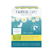 Natracare Ultra Pads Wings Regular 14 Pack