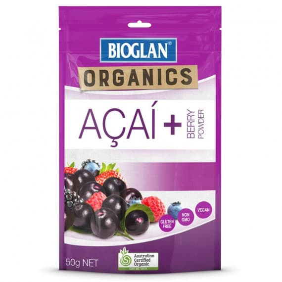 Bioglan Organic Acai + Berry Powder 50g