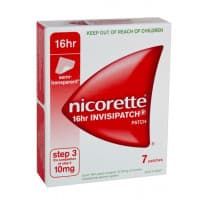 Nicorette Nicotine Patch 16hr Invisipatch Step 3 10mg 7 Patches