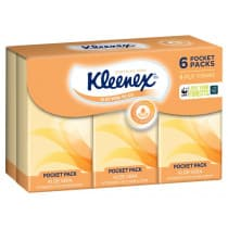 Kleenex Pocket Packs 4 Ply Tissues Aloe Vera 6 Packs