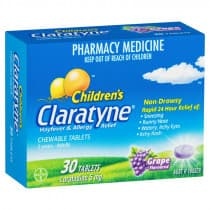 Claratyne Childrens Chewable 30 Pack