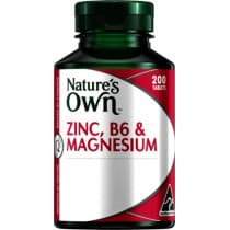 Natures Own Zinc B6 & Magnesium 200 Tablets