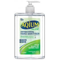 Ego Aqium Antibacterial Hand Sanitiser With Aloe 1L