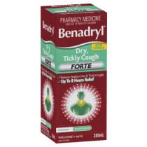 Benadryl Dry Tickly Cough Forte Peach 200ml