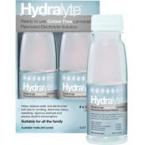 Hydralyte Electrolyte Solution Lemonade 4 x 250ml