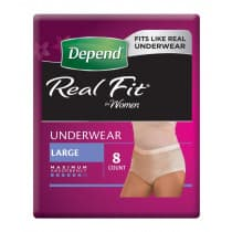 Depend Realfit Underwear For Women Large 8 Pack