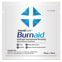 Mundicare Burnaid Burn Dressing 10cm x 10cm