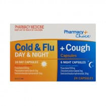 Pharmacy Choice Cold & Flu + Cough Day & Night 24 Capsules