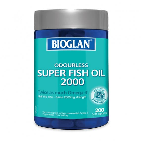 Bioglan Odourless Super Fish Oil 2000mg 200 Capsules