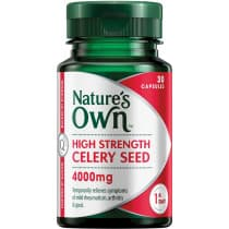 Natures Own High Strength Celery Seed 4000mg 30 Capsules