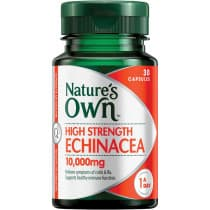 Natures Own High Strength Echinacea 10000mg 30 Capsules