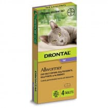 Drontal Cat Allwormer 4kg 4 Tablets