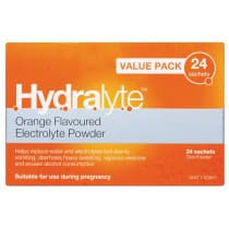 Hydralyte Electrolyte Powder Orange 24 x 4.9g Sachets