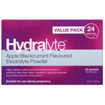 Hydralyte Electrolyte Powder Apple Blackcurrant 24 x 4.9g Sachets