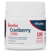 Faulding Remedies Cranberry 17000mg 100 Tablets