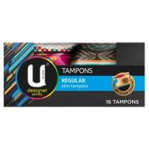 U By Kotex Designer Series Regular Tampons 16 Pack