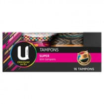 U By Kotex Designer Series Super Tampons 16 Pack