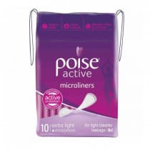 Poise Active Microliner Extra Light 10 Pack