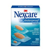 Nexcare Waterproof Bandages Assorted 30 Pack