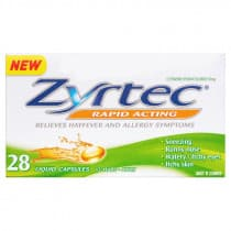 Zyrtec Rapid Acting 28 Liquid Capsules