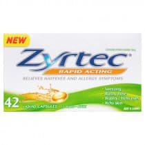 Zyrtec Rapid Acting 42 Liquid Capsules
