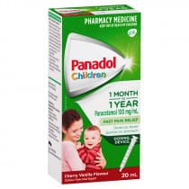 Panadol Children Baby Drops Colour Free 1 Month - 1 Year 20ml (inc. syringe)