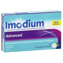 Imodium Advanced 2mg 6 Chewable Tablets