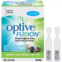 Optive Fusion Lubricant Eye Drops 30 x 0.4ml