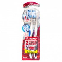 Colgate 360° Optic White Platinum Toothbrush Medium 2 Pack