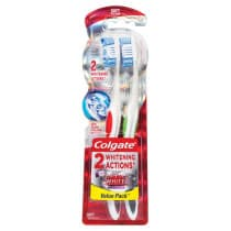 Colgate 360° Optic White Platinum Toothbrush Soft 2 Pack