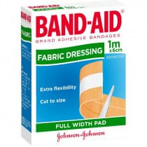 Bandaid Fabric Dressing Strip 1m x 6cm