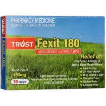 Trust Fexit 180mg 30 Tablets