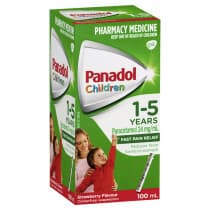 Childrens Panadol Suspension 1-5 Yrs Colour-Free Strawberry 100ml