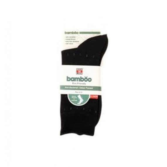 Sox & Lox Mens Business Diabetic Friendly Bamboo Black Size 6-11