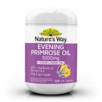 Natures Way Evening Primrose Oil 1000mg Plus Starflower 125 Capsules