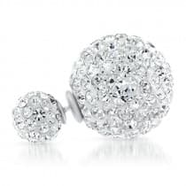 Desire Silver Ball with Crystal Studs