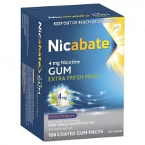 Nicabate Gum Extra Fresh 4mg 100 Pieces