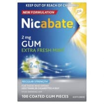 Nicabate Gum Extra Fresh 2mg 100 Pieces